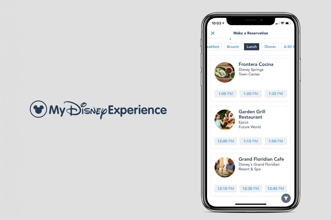 My Disney Experience App and Website Now Preferred Way to Make/Modify Dining Reservations